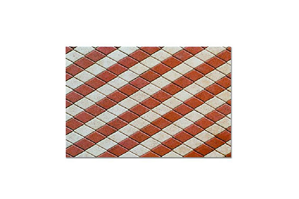Composizione-pavimento-autobloccante-rombo-rosso-e-bianco