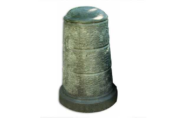 Dissuasore-cono-rigato-grande-finta-pietra-lavica