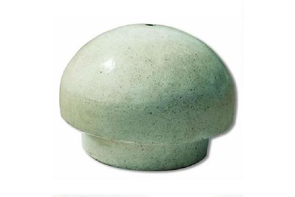 Dissuasore-cupola-basso-bianco-levigato-finta-pietra-lavica-levigata