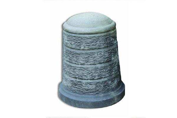 Dissuasore-rigato-medio-finta-pietra-lavica