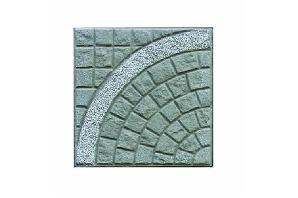 Pavimento-porfido-naturale-cerchio-grande-graniglia-bianco-carrara-fondo-antracite