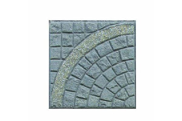 Pavimento-porfido-naturale-cerchio-grande-singolo-graniglia-giallo-siena-fondo-antracite