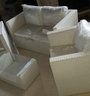 Set-mobili-giardino-poly-rattan-Polietilene-bianco